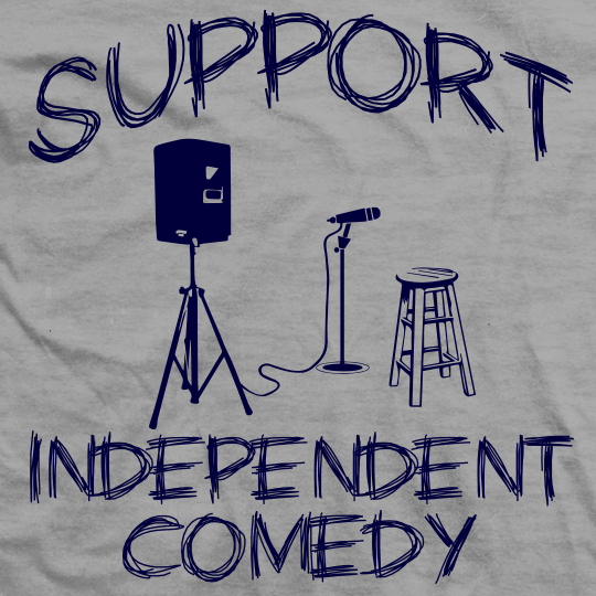 Support Independent Comedy (Sport Grey)