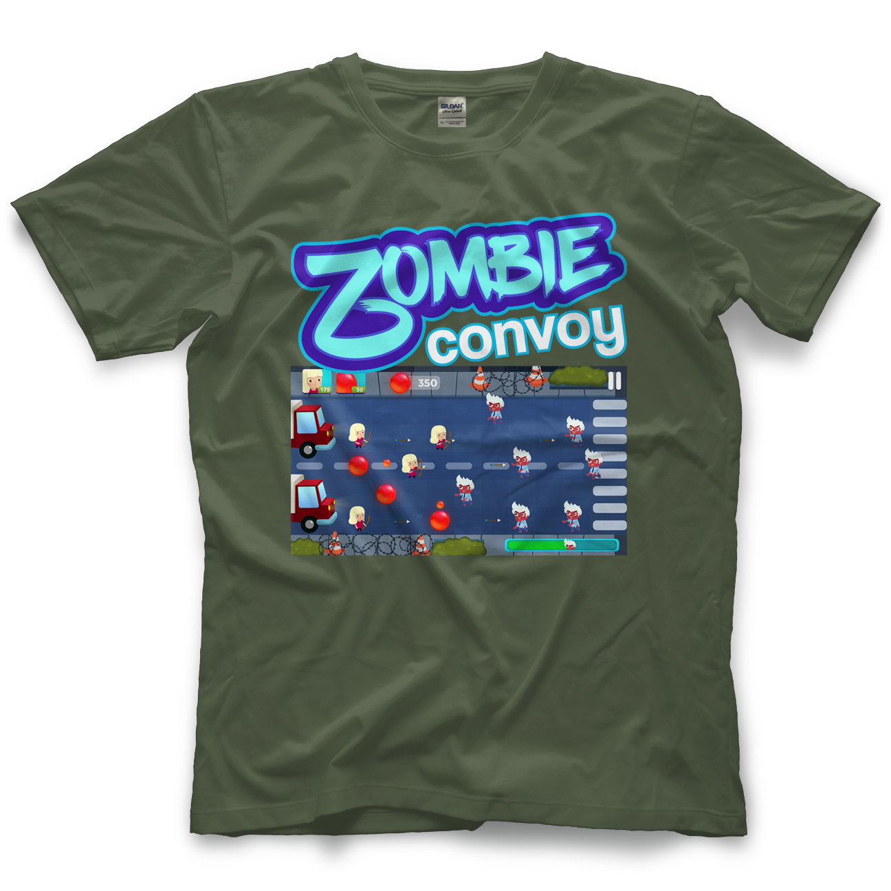 Zombie Convoy We Are Being Over Run T Shirt