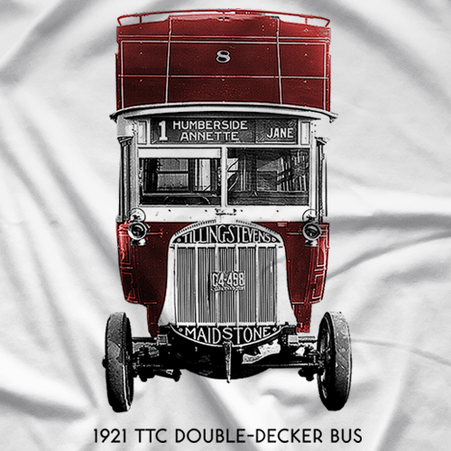 1921 TTC Double-Decker Bus T-shirt