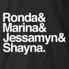 Four Horsewomen Ampersand T-shirt