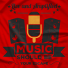 Live and Amplified Hollywood Hoods T-shirt