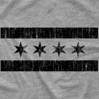 Black Chicago Flag
