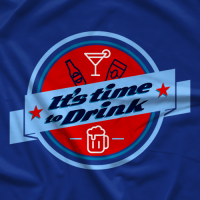 It's Time to Drink - Light Blue T-shirt