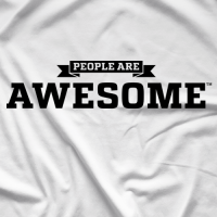 People Are Awesome White T-shirt